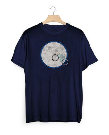 Bianchi T-Shirt Moon - navy blue
