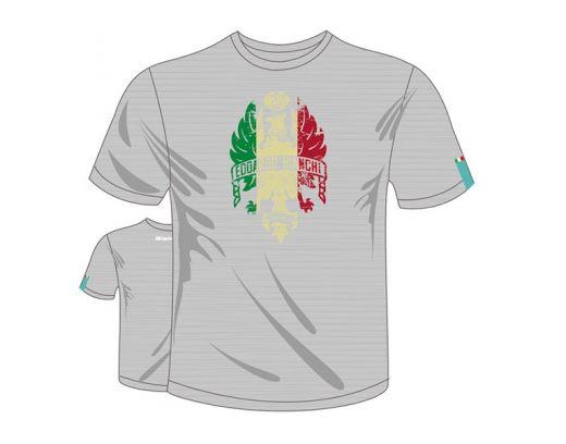 """T-Shirt """"Bianchi Eagle Italian Flag"""" grey/melange"""